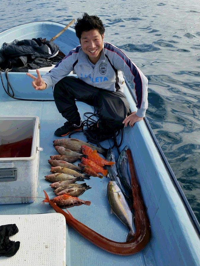 竹中福太郎の趣味の釣りの写真です。