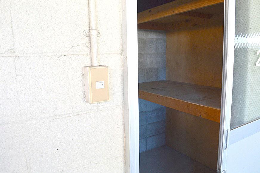 各部屋鍵付き倉庫付き