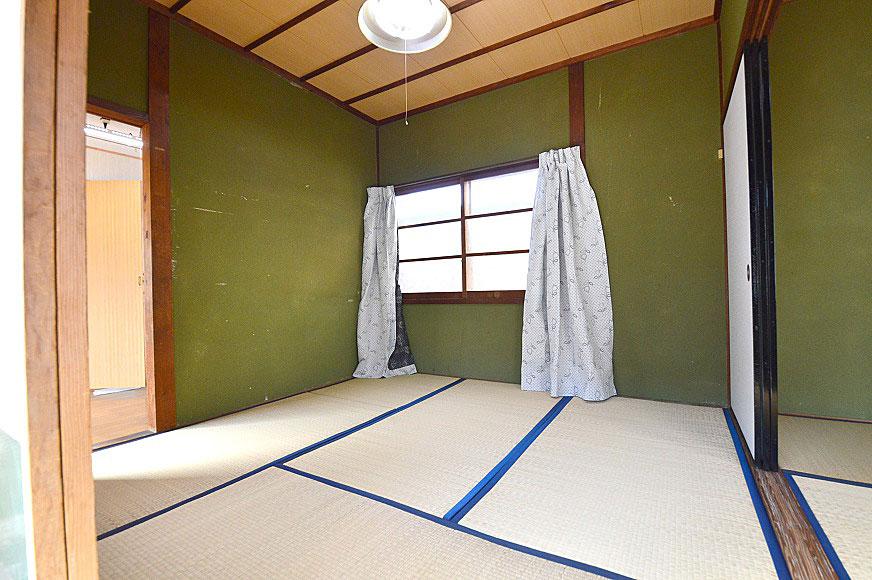 宿毛市賃貸アパート-玄関から見た和室4.5畳