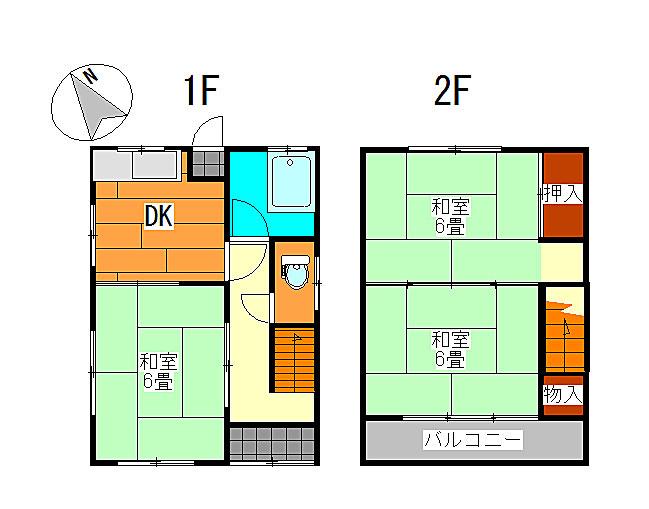 宿毛市賃貸アパート-間取り図