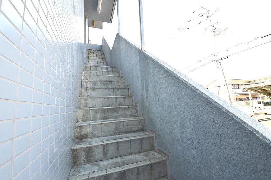宿毛市賃貸マンション-階段