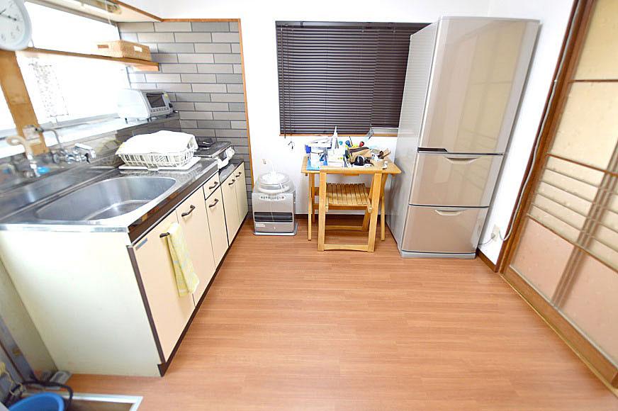 キッチンの可愛い壁